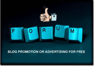 ways to promote a blog on forums