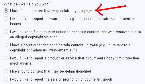 report content thieves