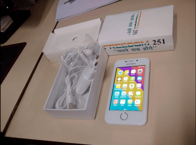 Ringing bells Freedom 251 cheap android device