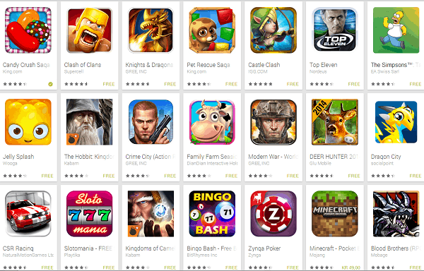 Play Store Games Trial