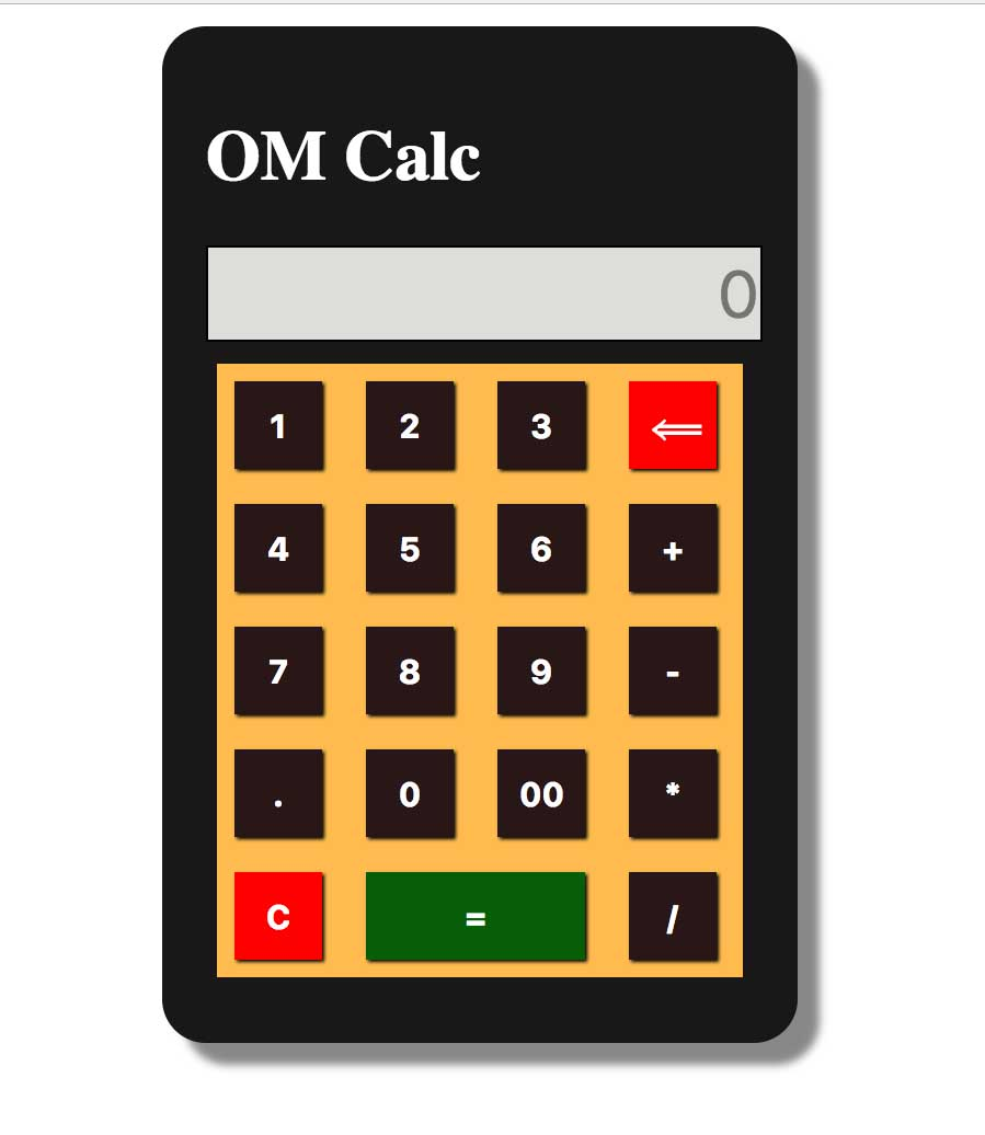 Calculator with JS, CSS and HTML