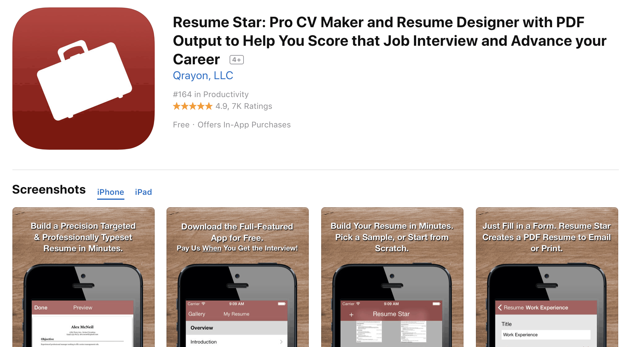 Best Free Resume Builder Apps for iPhone