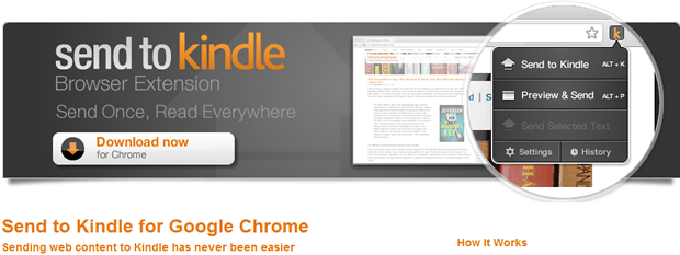 send to kindle chrome extension