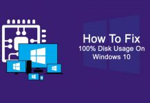 how to fix 100% disk usage error
