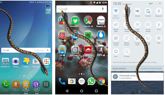 best snake on screen apps for Android