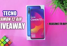 TECNO Camon 12 Air Giveaway