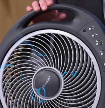 Holmes 12-Inch Blizzard Rotating Fan with Remote Control