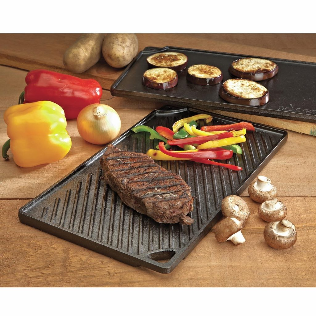Lodge Kitchen Cast Iron Reversible Grill Griddle
