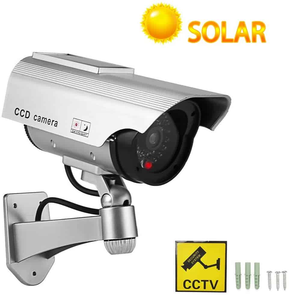Ysucau Solar Powered CCTV Fake Camera